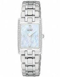 Womens Watches - Citizen EG3170-54D Women's Stiletto Diamond Eco-Drive Watch
