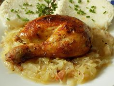 Czech Recipes, Salty Foods, New Menu, Family Meals, Poultry, Ham, Good Food, Food And Drink, Turkey