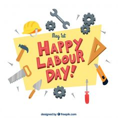 Hand drawn labour day background. Download thousands of free vectors on Freepik, the finder with more than 3 millions free graphic resources Creative Flyer Design, Creative Flyers, Creative Art, Easy Paper Crafts, Arts And Crafts, Diy Crafts, Labor Day Pictures, Engineers Day, Labour Day