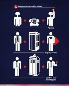 Hero's and their phones. ET, Superman, The Doctor