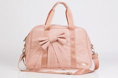 Gorgeous Bow Tie Gym Bag  -also available in caramel