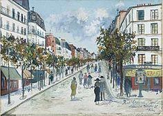 Maurice Utrillo French, 1883-1955, Rue Ordener, Paris