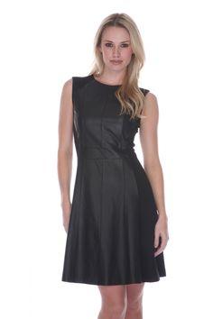 https://www.cityblis.com/4005/item/8834  LMT015 - $279 by My Tribe  Black leather dress