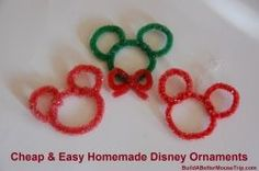 Disney Craft - Homemade Mickey Mouse Christmas Ornaments