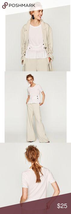 T-Party Light Grey Fluer de lis Wing Fold Over Yoga Pants Sz S-M-L $38 SALE $24
