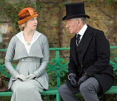 Hattie Morahan and Ian McKellen in Mr.Holmes.