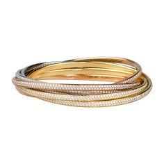 Cartier bracelet, 3-gold & diamonds