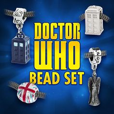 Doctor Who Charm Bead Set