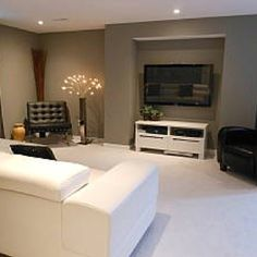 like the framing around the TV with added built in component shelving