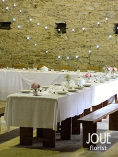 Rustic peony wedding on a farm, table prepared and decorated for a wedding lunch