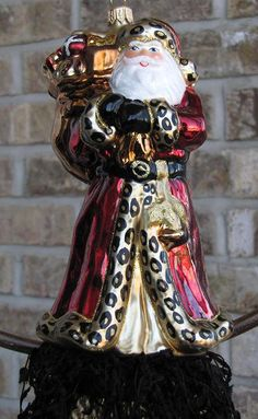 Leopard Glass Santa Decorative Tassel. $28.00, via Etsy.
