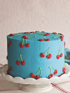 Nothing says summer like cherries, and this cake is covered in them.