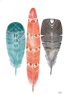The Native State Boutique - River Luna Lhasa Feathers Signed Print
