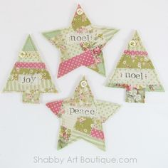 Faux Patchwork Christmas Ornies
