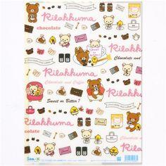 Rilakkuma bear A4 plastic file folder chocolate coffee