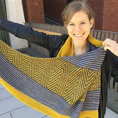 Doo Wop shawl  by Lisa Hannes