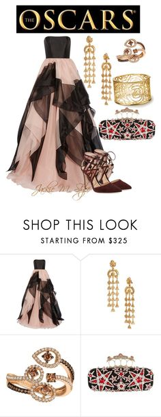 """""""The Oscars"""" by jackie-mallet ❤ liked on Polyvore featuring Reem Acra, Oscar de la Renta, LE VIAN, Alexander McQueen and Gianvito Rossi"""