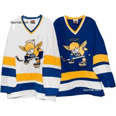 8894bb236 There were two teams in the WHA named MN Fightn  Saints. The first one  played from 1972 to 1976 and wore blue   yellow.