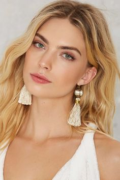 Boho-inspired tassel earrings