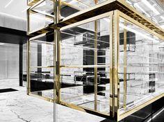 Saint Laurent Paris, Saint Laurent Store, Interior Work, Interior Design, Store Concept, Makeup Display, Retail Space, Luxury Shop, Retail Shop