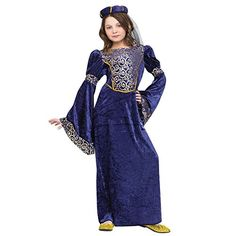 Renaissance Maiden Child Costume Medium 8-10 ** Check this awesome product by going to the link at the image.