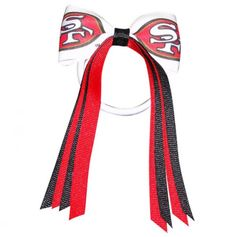 San Francisco 49ers Hair Bow Tie with Streamers.