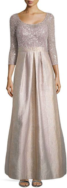 Kay Unger New York Scoop-Neck Ball Gown with Sequined Bodice