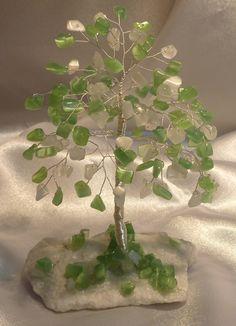Pomisor Feng Shui Wire Jewelry Designs, Handmade Wire Jewelry, Beaded Jewelry, Wire Flowers, Beaded Flowers, Wire Crafts, Bead Crafts, Feng Shui Tree, Copper Wire Art
