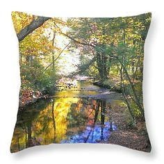 """Autumn Reflection Throw Pillow 14"""" x 14"""""""