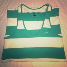 Nike ribbed tank!!  Never been worn Nike ribbed tank. Size large with real stripes. Perfect condition! Nike Tops Tank Tops