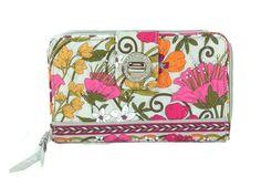 Vera Bradley Turn Lock Wallet, Tea Garden