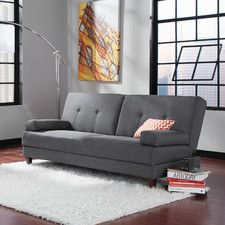 Sauder Premier Carver Convertible Sofa with Storage Same size as current sofa Modern Sofa, All Modern, Modern Furniture, Gray Furniture, Cheap Furniture, Office Furniture, Futon Sofa Bed, Sofa Sleeper, Sectional Sofa