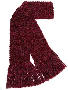 Burgundy Scarf Extra Long Scarf Chunky by SticksNStonesGifts