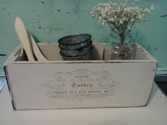 Another cubby/box from an old discarded drawer. Such a pretty way to store things or display things!  www.facebook.com/mariassalvagedtreasures?ref=hl