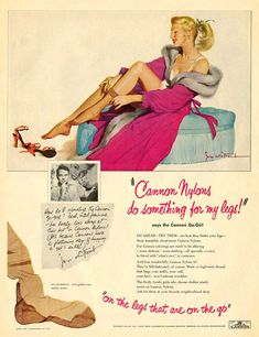 Cannon Nylons Pin Up Girl - Mad Men Art: The 1891-1970 Vintage Advertisement Art Collection