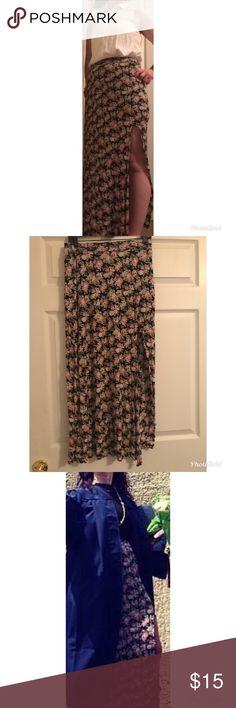 Long Skirt with Slit Long Skirt with Slit Forever 21 Skirts