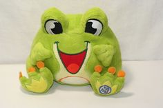 "Laugh Pack plush talking Frog Stuffed animal 7"" green and yellow Kelly Toys  #Kellytoy"