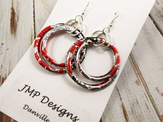 Stacked+Hoop+Circle+Earrings.++DOUBLEsided.++Recycled+by+jillmccp,+$11.95