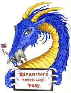 Democrat Dragon by Heidi Buck