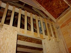 vaulted overlook in cottage playhouse