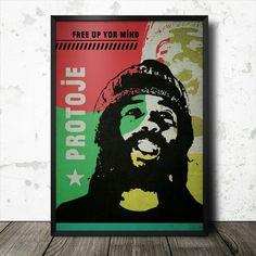 Protoje reggae music poster graphic design