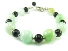 BB0709F Jade Onyx Natural Crystal Gemstone Findings Bracelet - See more at: http://waggashop.com/wagga-shop-bb0709f-jade-onyx-natural-crystal-gemstone-findings-bracelet