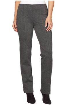 Gloria Vanderbilt Ladies Jolie Ponte Stretch Pull On Pant, Heather Grey Short) >>> Be sure to check out this awesome product. (This is an affiliate link) Grey Pants, Women's Pants, Work Pants, Pantsuits For Women, Ponte Pants, Pants For Women, Clothes For Women, Gloria Vanderbilt, Pull On Pants