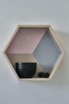 Hexagon shelf in colour