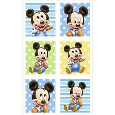 Add a special touch to notes or invitations, decorate gifts and treat bags, or give as favors! Mickey's First Birthday stickers feature the adorable Baby Mickey character in 6 different designs. 4 sheets of 6 stickers each per package. Baby Mickey Mouse, Mini Y Mickey, Festa Mickey Baby, Mickey Mouse Stickers, Mickey Mouse Party Decorations, Mickey Mouse Parties, Mickey Party, Mickey 1st Birthdays, Mickey Mouse 1st Birthday