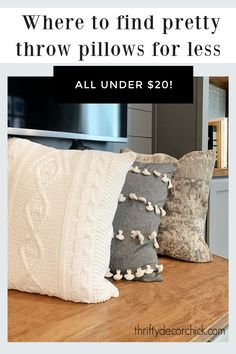 Where to find cheap throw pillow covers (under $20!) Cheap Throw Pillow Covers, Decorative Pillow Covers, Throw Pillows, Helpful Tips, Bed, Home, Toss Pillows, Useful Tips, Cushions