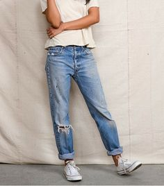 @Who What Wear - Urban Renewal Vintage Levi's Jeans ($59)  Already effortlessly broken-in? Please and thank you!