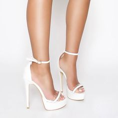 8c73c703e80 Sarai White Clear Platform Stiletto Heels   Simmi Shoes Platform Stilettos