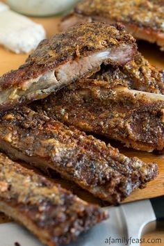 White Barbecue Sauce Pork Ribs - A delicious change from the same old barbecued ribs! This zesty, peppery white sauce is fantastic on ribs! Barbecue Ribs, Ribs On Grill, Barbecue Sauce, Bbq Sauces, Pork Loin Ribs, Smoked Pork Ribs, Rib Sauce, Grilled Roast, Comfort Food