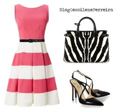dress by gessilene-ferreira on Polyvore featuring polyvore, fashion, style, Kate Spade, Alexander White, Burberry, Lauren Ralph Lauren and clothing